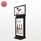 Indoor Stand Digital Sinage with 2 screens,LCD publicity screen,wifi advertising player