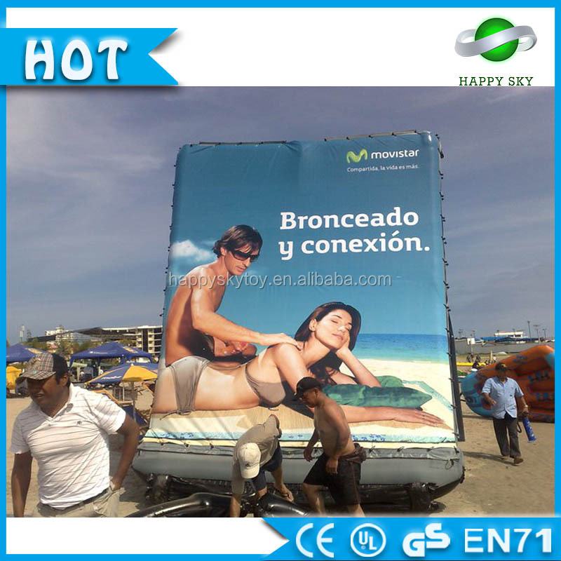 commercial air tight billboard, giant inflatable water billboard, customized advertising billboard for sale