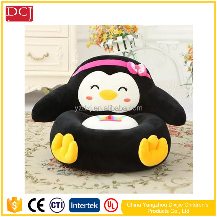 penguin kids chair certificated safe chinese oem plush sofa