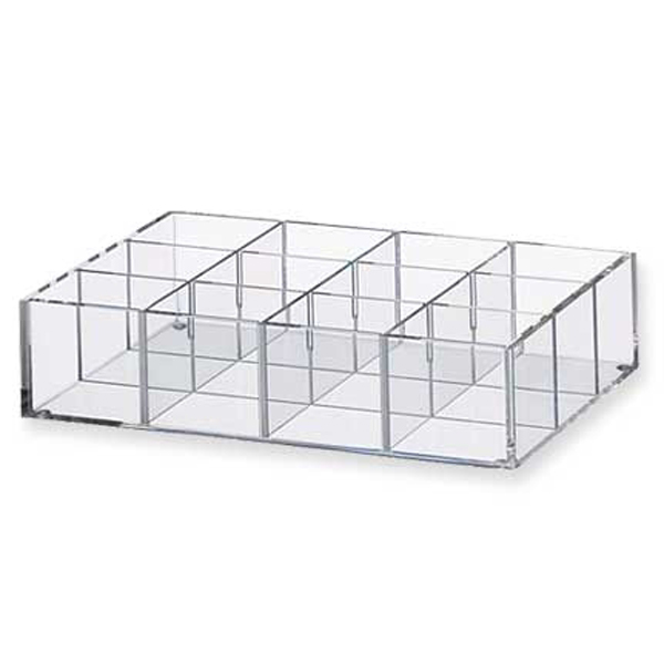 Clear Acrylic Storage Organizer Tray Waterproof With Divider Wholesale.  ODB_179