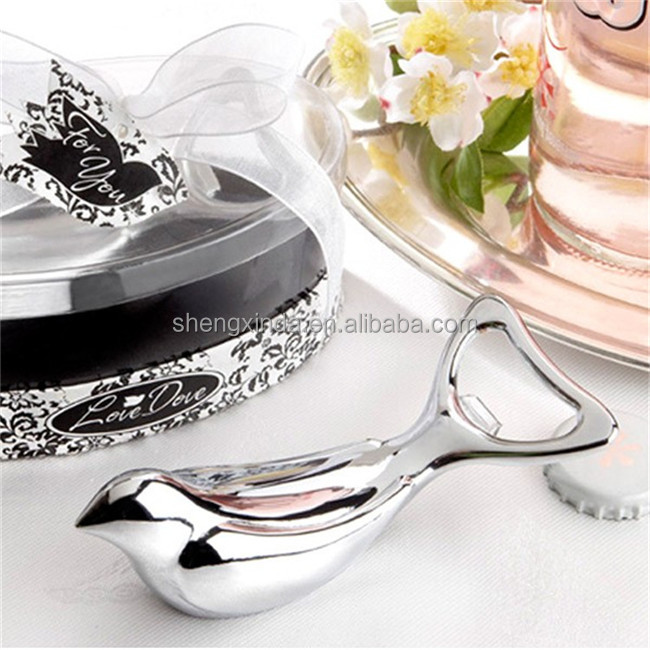 wedding gift item metal silver bird top grade metal craft