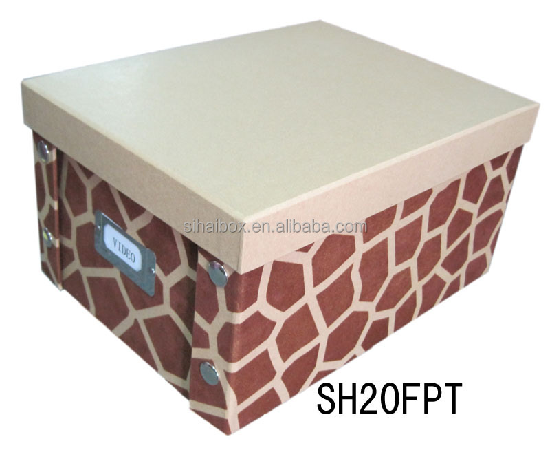 Foldable Flock Coatng Video Storage Box