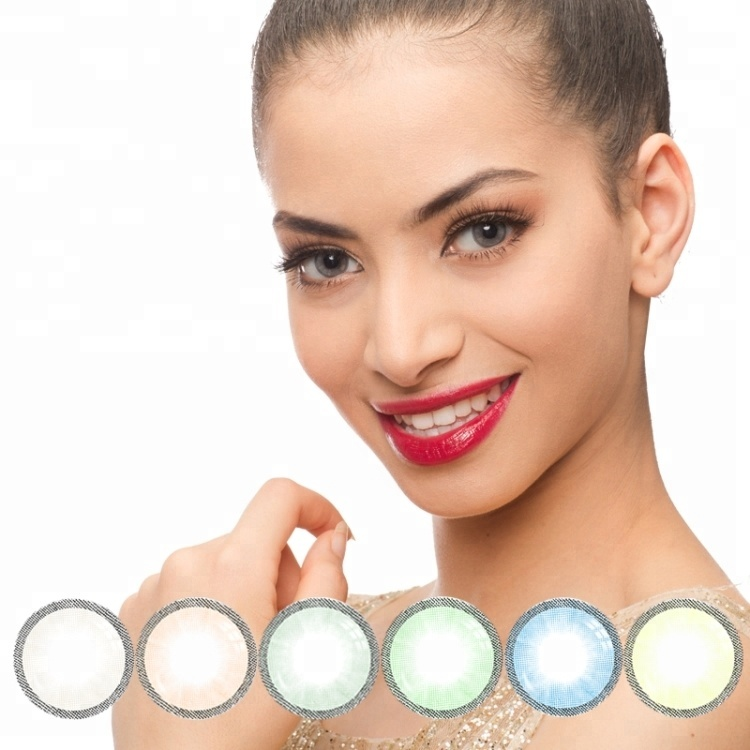 Freshgo rainbow Ice color big eye hazel green colored contacts lenses