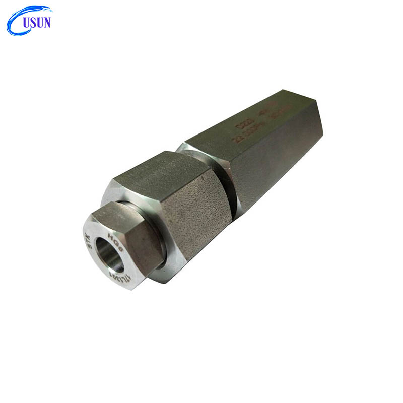 Usun Brand Model: D222 22,000 PSI 1/4'' Thread ultra high pressure stainless steel spring ball check valve for water oil gas