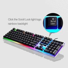 2c490aa1123 Heißer verkauf ZGB G21 104 Schlüssel USB Verkabelt Mechanische Bunte  Hintergrundbeleuchtung Büro Computer Tastatur Gaming-