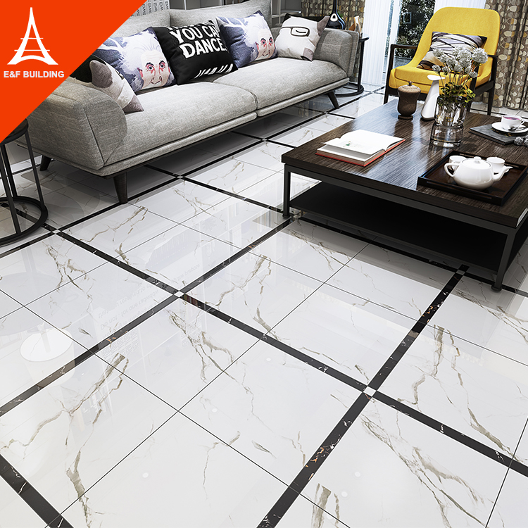 Living Room Modern Floor Tile Design 600x600 Carrara White Polished Glazed  Porcelain Tiles, View living room Carrara white floor tile, E&F building ...
