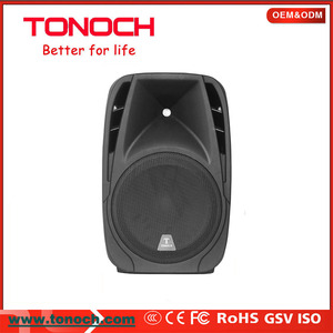 "TONOCH 8"" 10""professional plastic cabinet pa system speaker box with light"