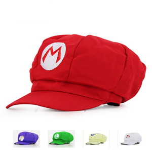 Anime Super Mario Hat Cap Luigi Bros Cosplay Baseball Costume BHAT-2416