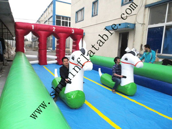 2014 factory supply inflatable horse racing for sale