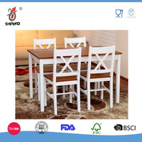 Solid Pine Wood Dining Set Table and 4 Chairs Home Kitchen Furniture