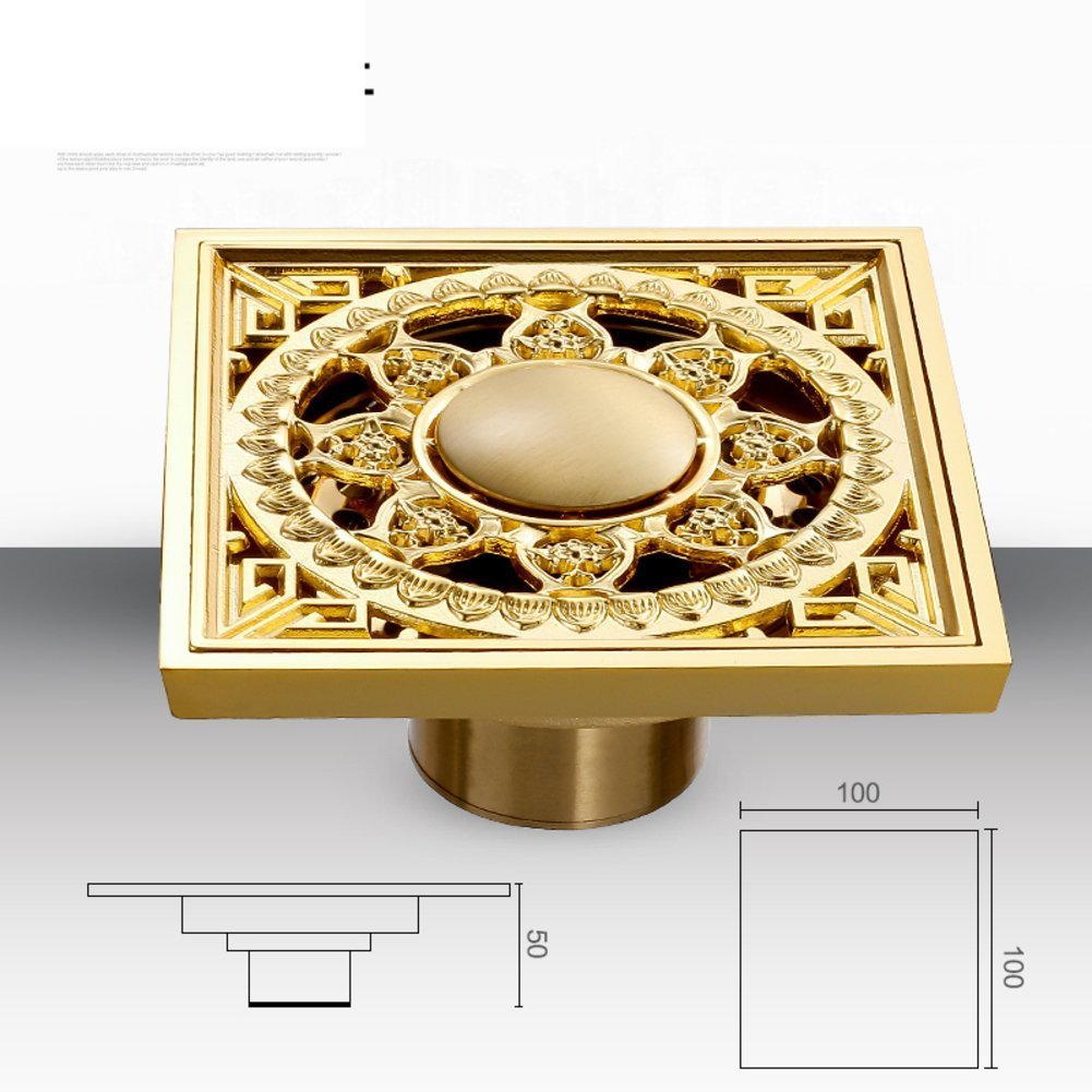 YAOHAOHAO European antique carved floor drain/all of copper floor drain smell retro-H