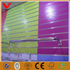 Cheap price factory UV high gloss shiny slatwall panels with flowers