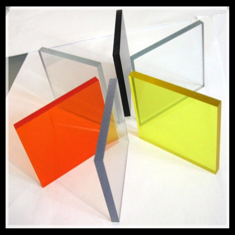 colorful transparent high polished PMMA parts by CNC rapid prototyping