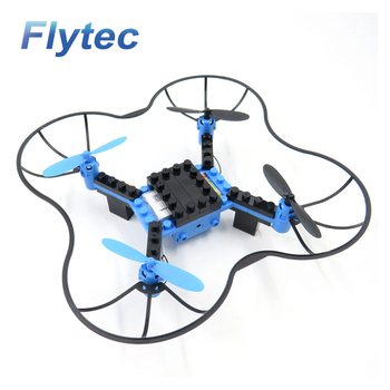 Flytec Unique Design DIY School Educational Quadcopter T11 Building Blocks RC Drone Toy Gift For Kids