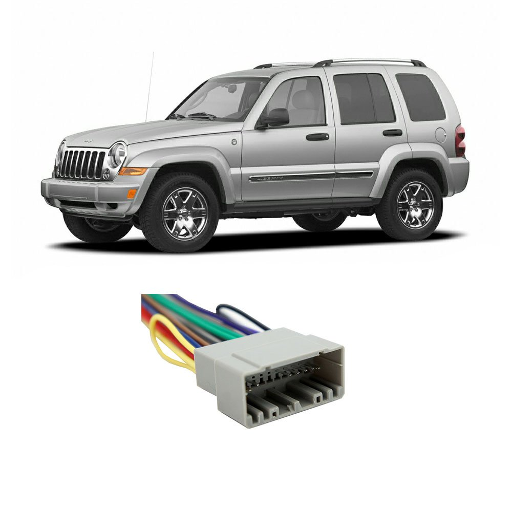Jeep Liberty 2002-2007 Factory Stereo to Aftermarket Radio Harness Adapter