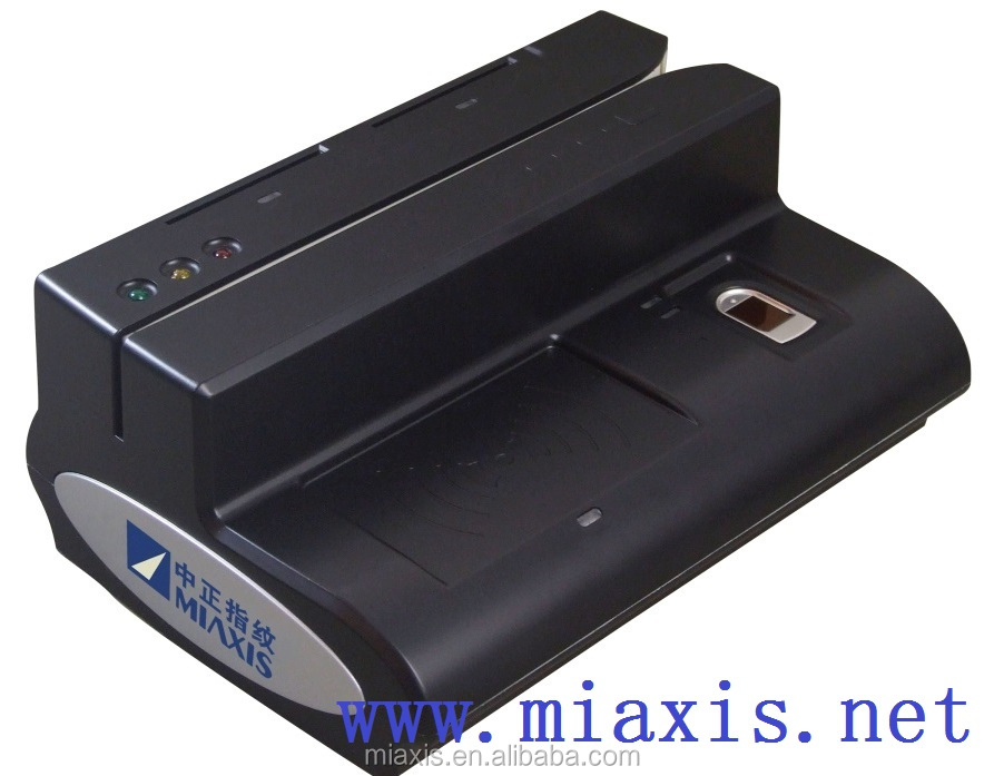 magnetic stripe card reader writer MR-500D Portable fingerprint scanner device 5-in-1 for bank EMV card reader writer