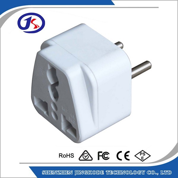 factory price CE certified UK to EU travel adapter portable plug converter