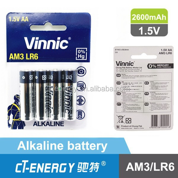 vinnic pile s che 1 5 v pile aa lr6 alcaline batterie piles et batteries id de produit. Black Bedroom Furniture Sets. Home Design Ideas