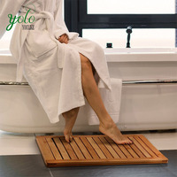 100% Natural Bamboo Floor and Shower Mat