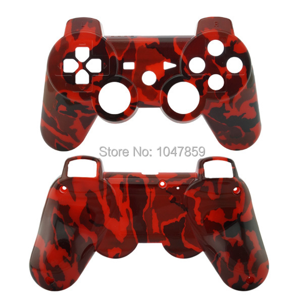 High Quality Red Camo Hydro Dipped Replacement Housing Front and Back Shell case for PS3 Console