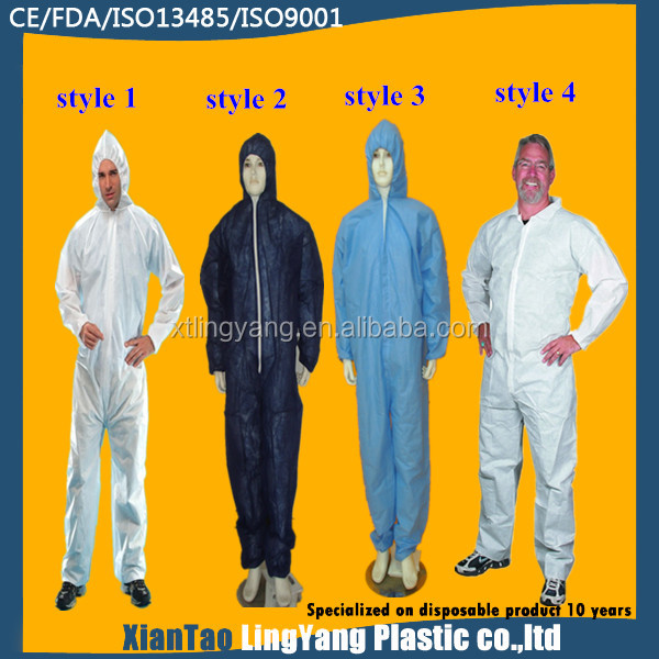 Chinese clothing manufacturers workwear uniform,disposable coverall