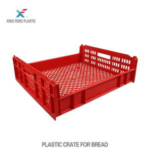 Stackable food grade plastic bread crate 545*485*162mm