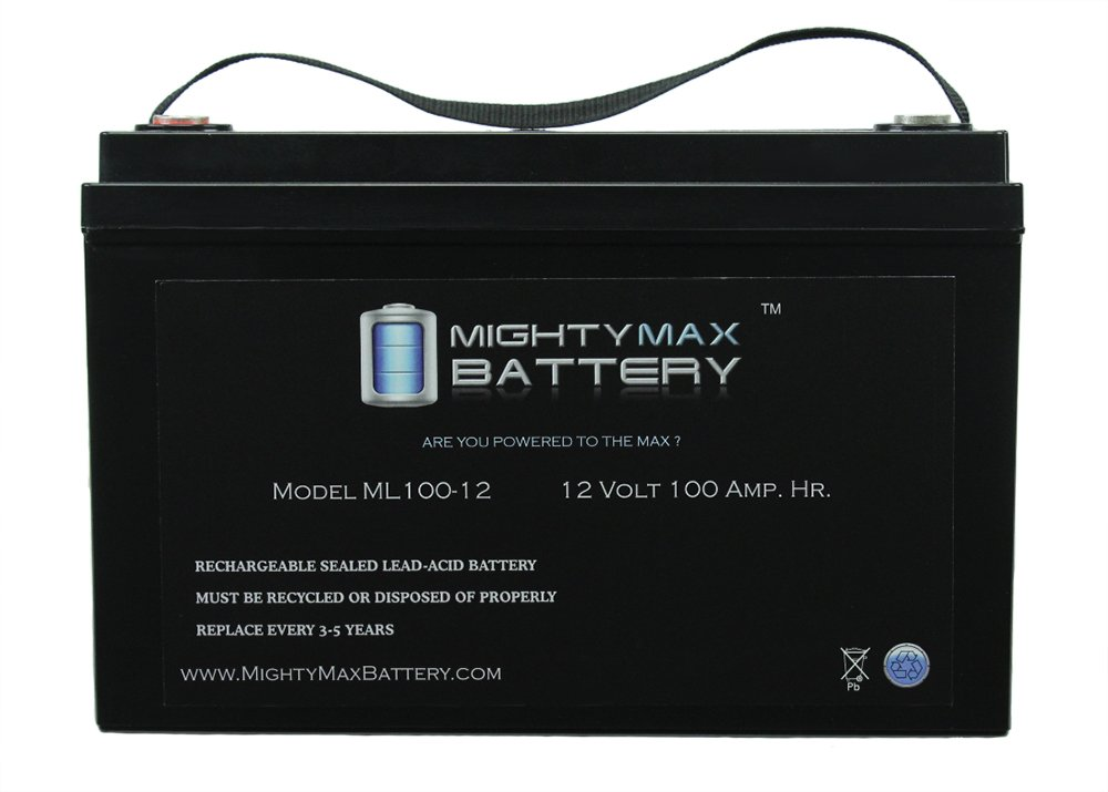 12V 100AH BATTERY FOR SOLAR WIND DEEP CYCLE VRLA 12V 24V 48V - Mighty Max Battery brand product