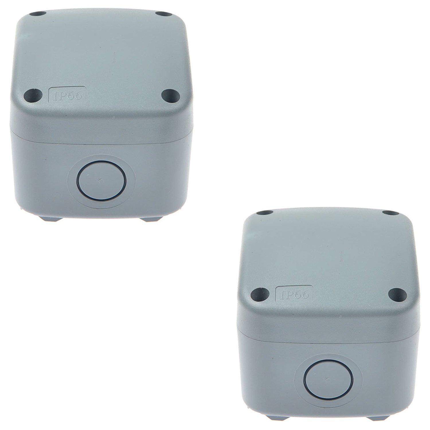 GREENCYCLE 2 Pack IP66 Rated Plastic Weatherproof Junction Box Fit for Outdoor Use, 867462mm