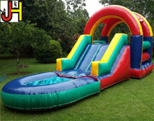 Cheap Small Inflatable Water Slide With Pool Inflatable Jumping Bouncer Slide Combo Inflatable Rainbow Water Slide For Sale