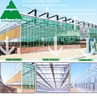Professional Intelligent agricultural glass greenhouse for sale