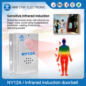 Infrared sensor door bell , wireless human dody welcome alarm