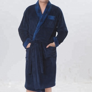 China Factory Custom Sports Men Deep Blue Robes