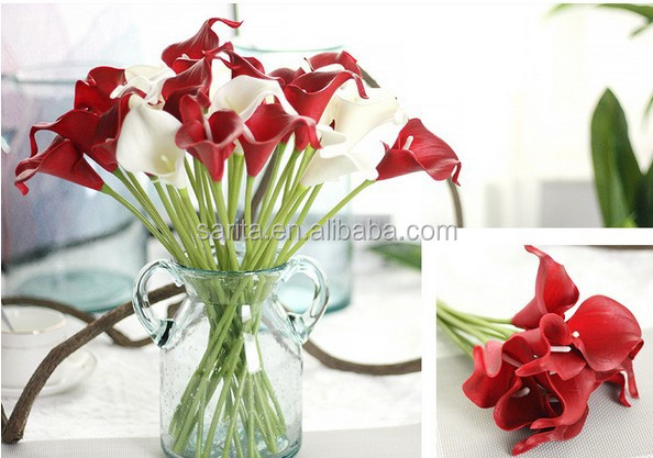 Wholesale Home Decor White Artificial Flower Silk Calla Lily