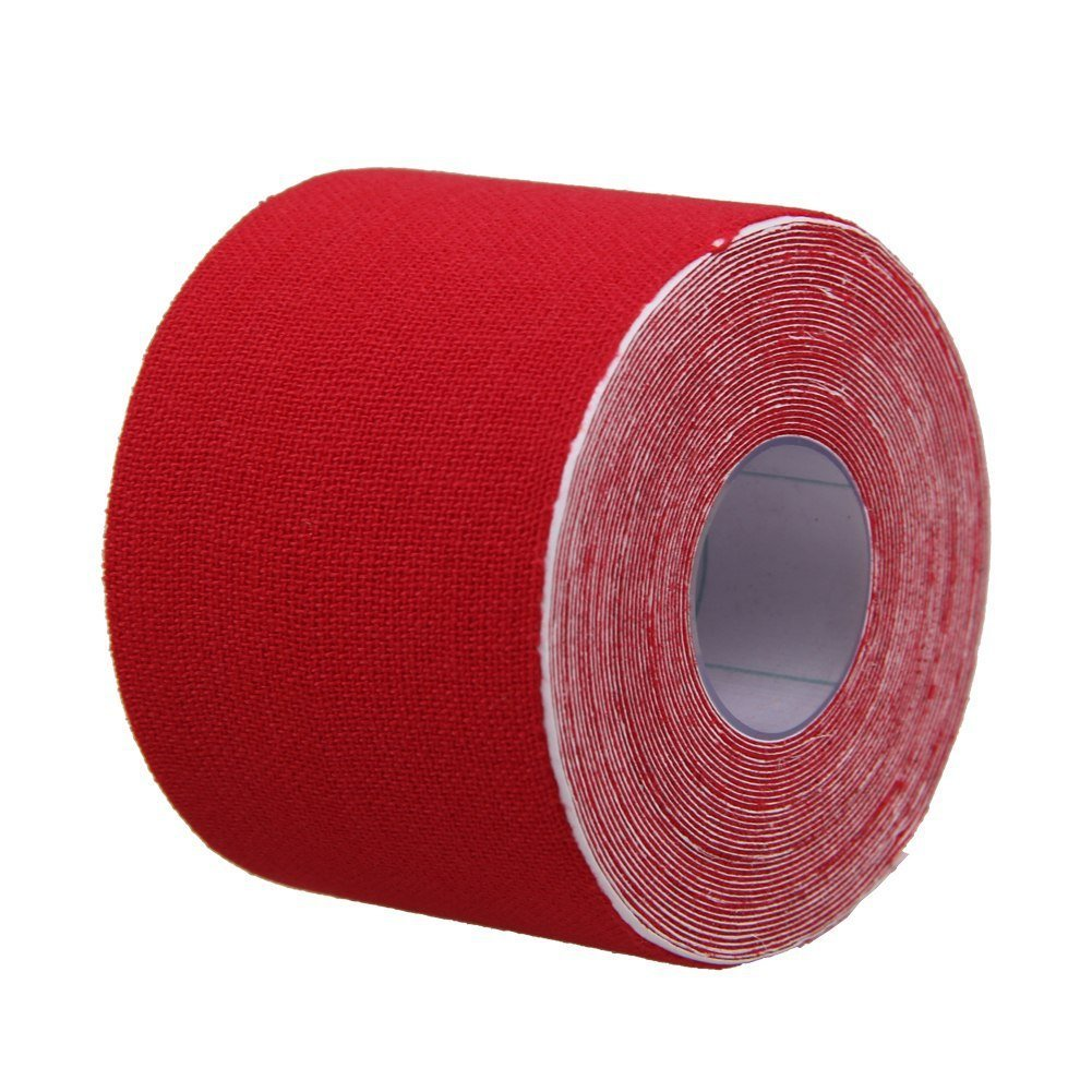 Da.Wa Kinesiology Elastic Tape Rope Sports Physio Muscle Strain Injury Care Tape Rope 5M5cm Red