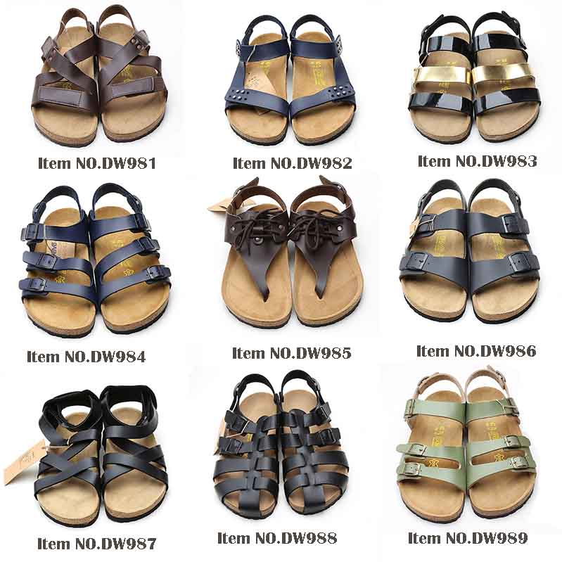 1edd775a97a6 High quality casual cork clogs sandals 2.5mm thick genuine leather women  mules shoes cork sandals