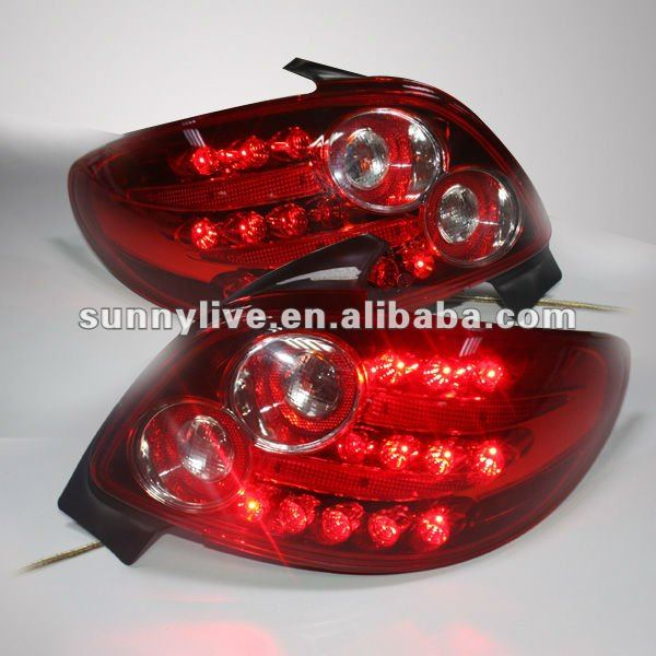 For PEUGEOT 206 LED Tail Lamp 1998 to 2004 year V1 Type