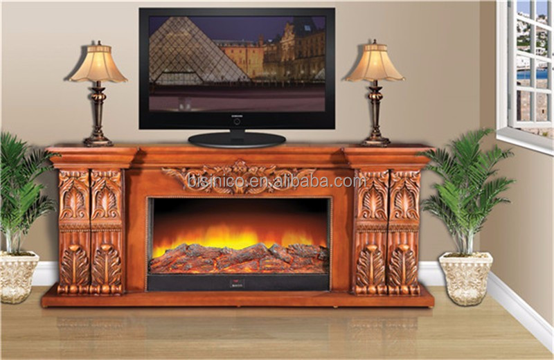antique chemin e en bois meuble tv d coratif lectrique. Black Bedroom Furniture Sets. Home Design Ideas