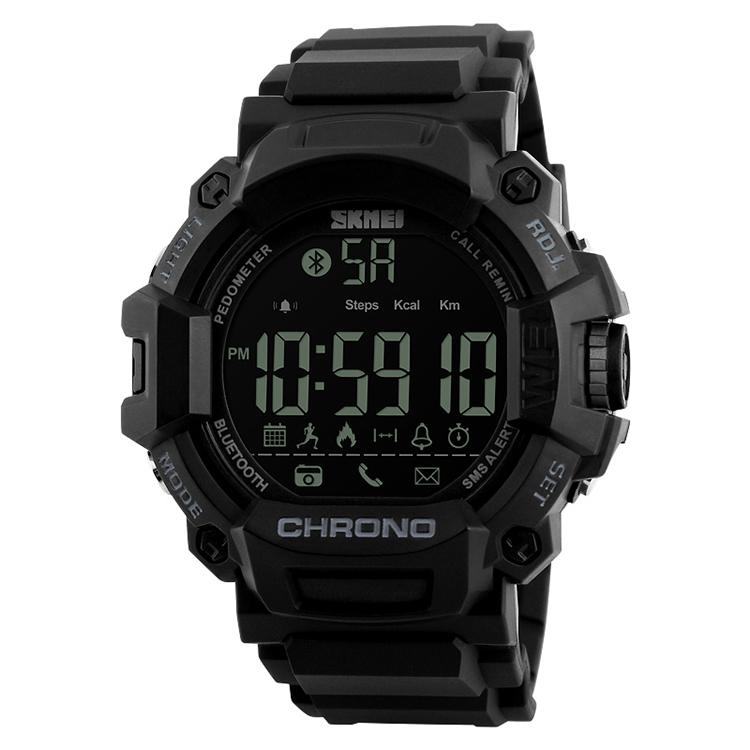 SKMEI 1249 Wholesale cheap price oem call remind smart watch 2017, Black
