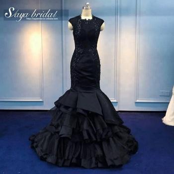 Negro Tul Capas Sirena Vestido De Novia Buy Vestido De Novia De Sirenavestido De Novia Negrovestido De Novia Product On Alibabacom