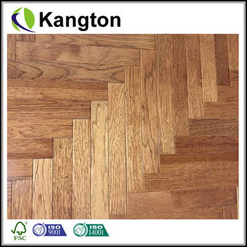 Natural grade oak hard wood floor EU oak Zig-Zag wood flooring