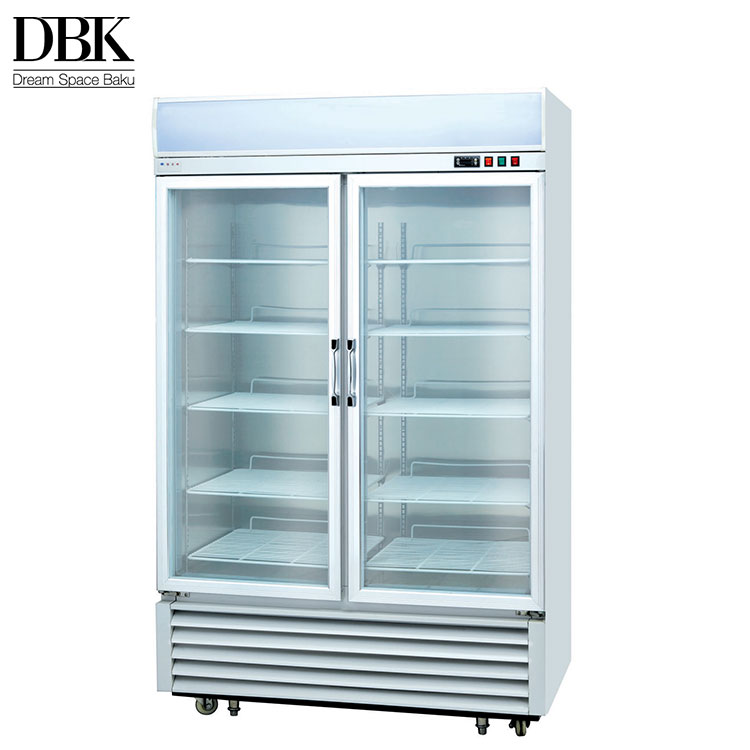 Commercial refrigerator cooler stand 2 door upright display freezer for sale