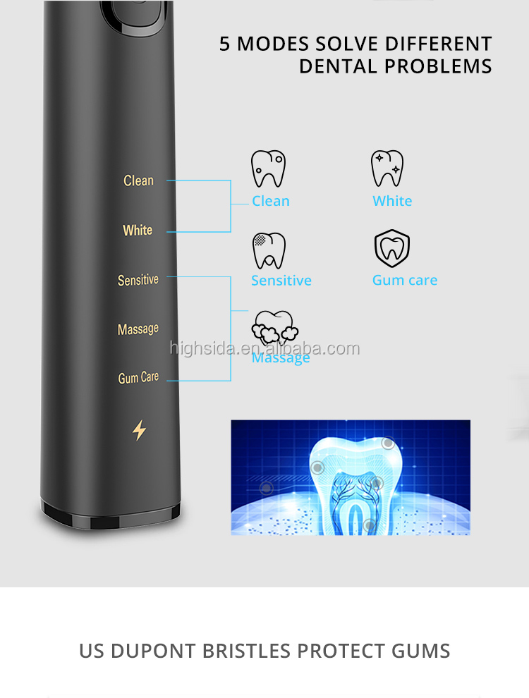 Tooth Whitening Portable Sonic Electronic Toothbrushes SN903