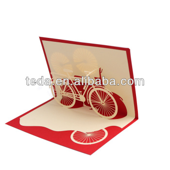 2015teda bicycle design wedding invitation laser cut pop for Laser cut wedding invitations in chennai