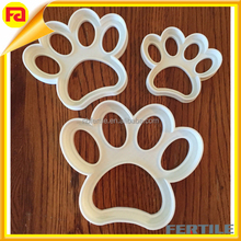 Set of THREE paw print silicone cookie cutters cookie stamps