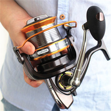 YOUME 3000-9000 Größe 12 + 1 Kugellager Große Trolling <span class=keywords><strong>Angelrollen</strong></span> Feeder Metall Angelrolle Carp Surf Casting Reel