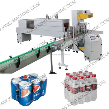 Automatic PET Film Bottle Heat Shrink Wrapping Machine / Machinery / Equipment KINGMACHINE