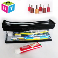 light weight clear hard plastic travel waterproof makeup cosmetic bags pouch storage organizer with handle zipper
