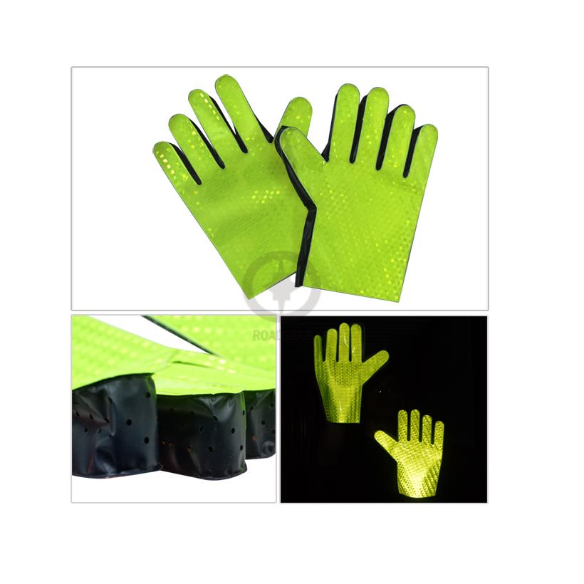 Красный и зеленый отражающие перчатки с пвх материала для безопасности дорожного движения руководство светоотражающие пвх перчатки бесплатная доставка