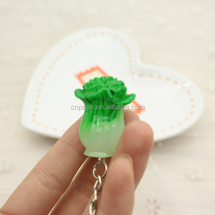 Cheap creative imitation vegetable resin material key chain pendant