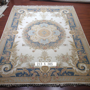 7x10ft King Room Luxury Handknotted Wool Silk Rugs Hand Made Indian